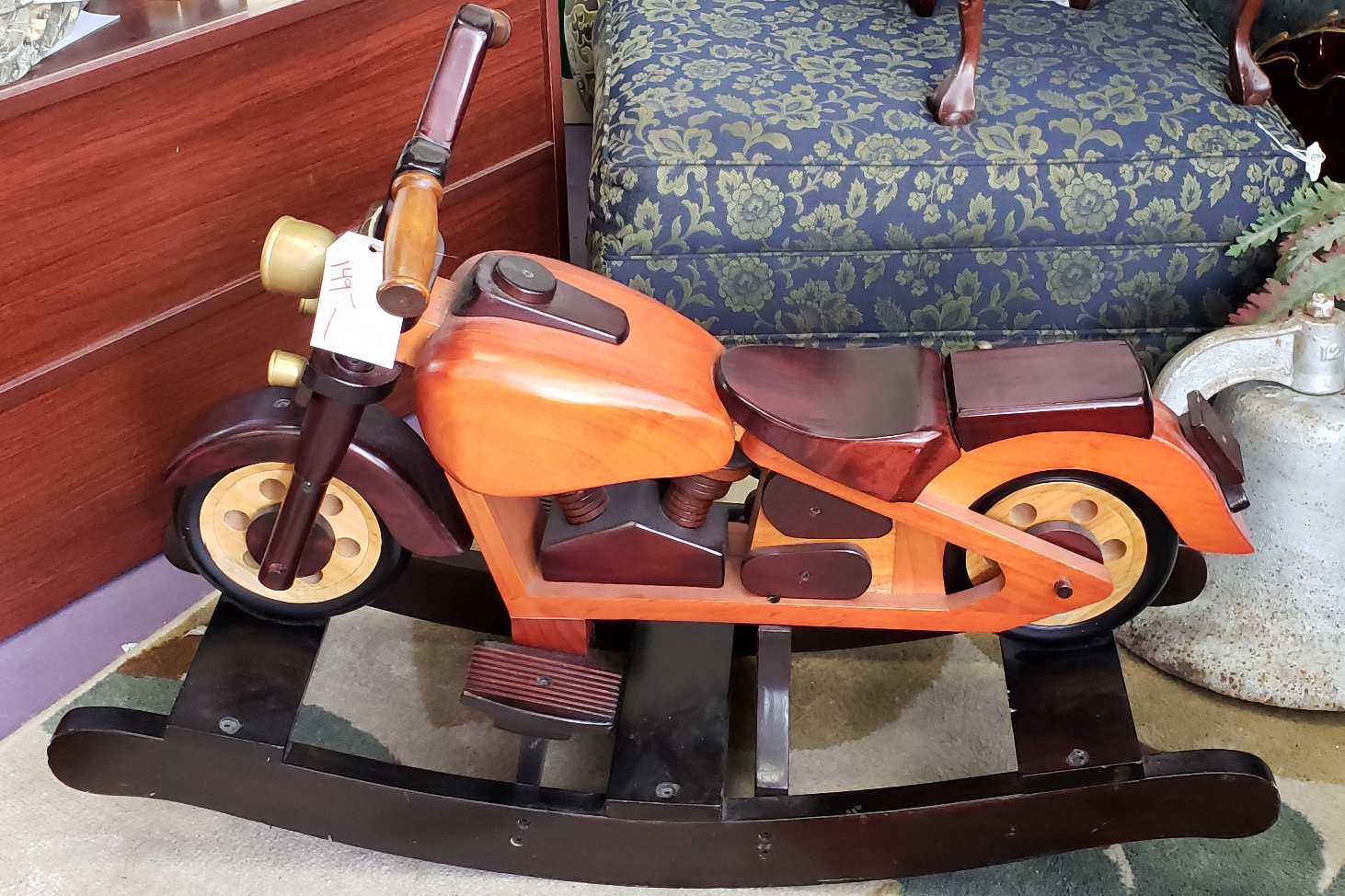 Motorcycle Rocking Horse at Tammy Skipper