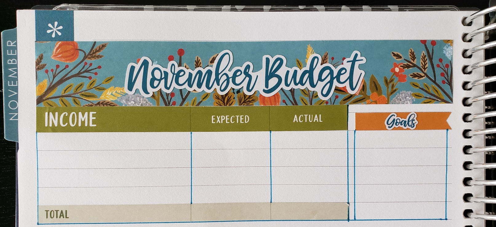November Budget with Caffienated Cait stickers